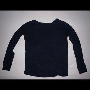blue and black shirt